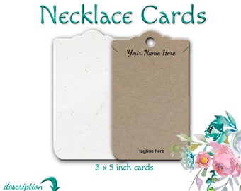 Necklace Cards | Necklace Display | Jewelry Cards | Necklace Holders | Jewelry Display | 100 Pound Papers | Product Display