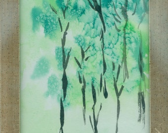 """Small watercolor """"Small spring forest"""""""