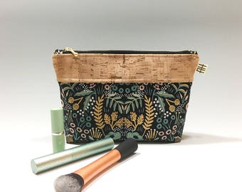 Rifle Paper Co Zippered Pouch for Cosmetics, Travel, Cell Phone, Wallet, Pencil Case and more!