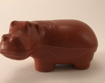 Vintage Fisher Price Little People #916 ZOO BROWN HIPPO