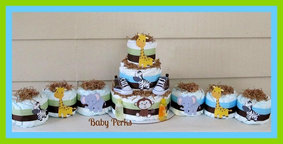 Jungle Diaper Cake Jungle Baby Shower Baby Shower