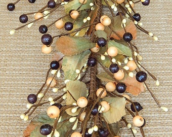 Brownstone Mixed Berry Garland, Primitive Berry Garland, Fall Garland, Pip Berry Garland, Wreath Garland