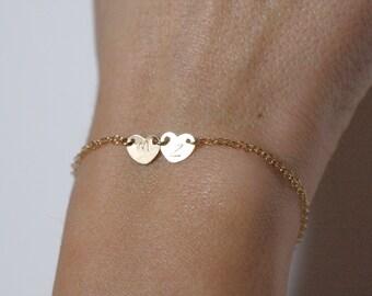 Initial Charm Bracelet, Personalized Bracelet, Initial Bracelet, delicate initial bracelet, Bridesmaid Bracelet, Bridesmaids Gift