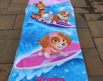Paw Patrol Wave Catcher Beach Towel - Personalized Beach Towel