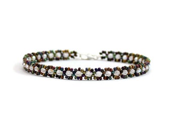 Seed Bead Anklet - Chain Ankle Bracelet - Beaded Jewelry - Multi Color Summer Anklet - Beach Jewelry - Glass Bead Anklet