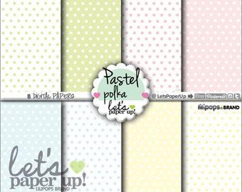 60%OFF - Pastel Digital Paper, Printable Paper, Pastel Polka, Pastel Pattern, Printable Background, Kawaii Polka, Kawaii Paper, Pattern