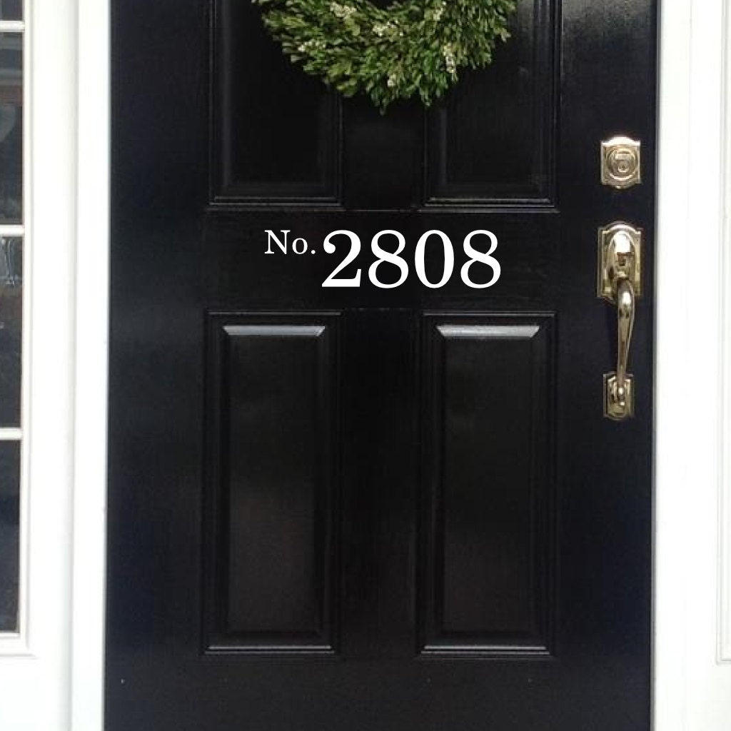 Ideal Vinyl House Numbers front door decal House Numbers for Front RE37
