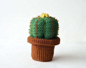 Small Cactus Crochet Pattern, Cacti Crochet Pattern, Ball Cactus Crochet Pattern, Flower in Pot Crochet Pattern, Plant Crochet Pattern