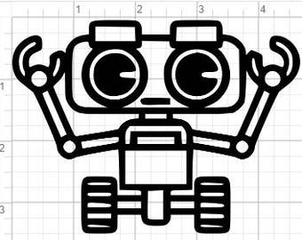 Kids Robot Design SVG EPS DXF Studio3 Cut Files
