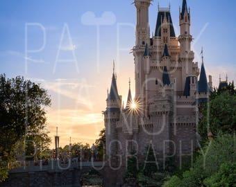 Magical Sunset - Photo Print, Canvas Wrap, Magic Kingdom, Walt Disney World, Cinderella Castle