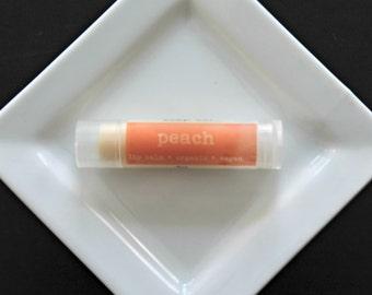 Peach Lip Balm, Organic Lip Balm, Vegan Lip balm, Natural Lip Balm
