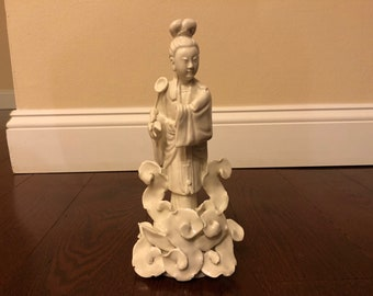 Vintage Blanc-de-Chine Chinese Porcelain Figurine