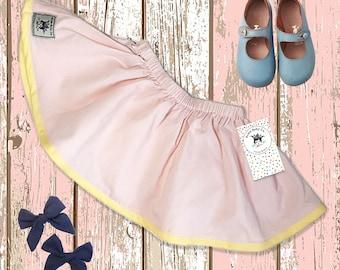 Girls skirt, Pink, Toddler skirt, Baby skirt, Simple Skirt, Boho Skirt, Bohemian Baby Skirt, Cotton Skirt, Retro Skirt, Boho Photo Prop