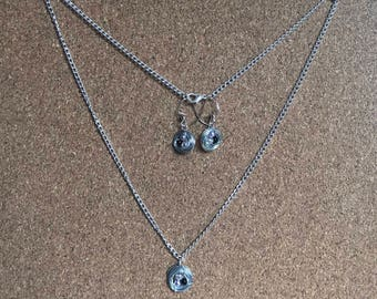 Birds Nest Necklace and Earrings Set