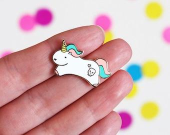 Unicorn Pin Badge, Unicorn Enamel Pin, Enamel Unicorn Pin, Enamel Pin Unicorn, Motivational Gift, Unicorn Brooch, Unicorn Hard Enamel Pin