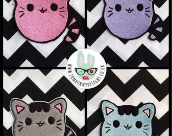 Cute Kawaii Kitten sew on or iron on patch