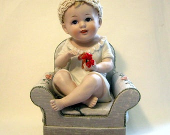Piano Baby, Andrea of Japan, 7536, Seated, Blonde, Blue Eyes.