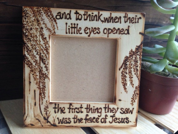 Religious Baby Sonogram Ultrasound Picture Frame Fertility