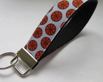 Basketball Lanyard Keychain, Cool Lanyards, Basketball Keychain Lanyard, Cute Wristlet Lanyard, Cute Key Fobs