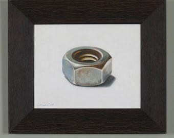 Nut original acrylic painting on canvas framed