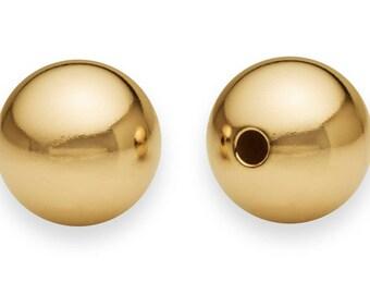 Gold Filled 14K Diamond bead 1pc. 8 mm / 10 mm