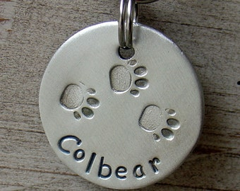 Dog ID Tags-light weight Making Tracks round tag