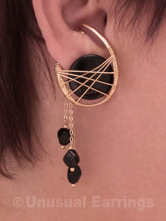 gold filled unpierced earrings non pierced ear cuff gold filled unpierced earrings non pierced earrings black 4549