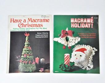 2 1970's Christmas Macrame Books - Vintage Macrame Christmas Designs - Patterns