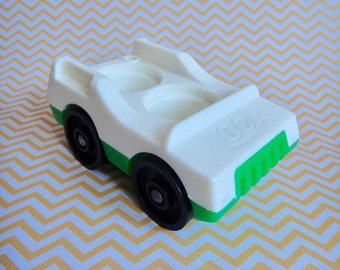Vintage Fisher Price Little People Green Car