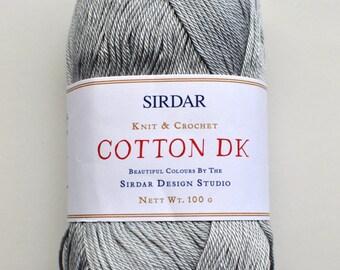 Sirdar DK 100% Cotton Yarn, #520  Grey Dawn,