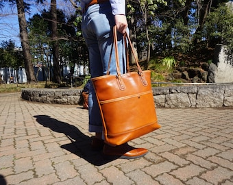 Oil Leather Large Tote