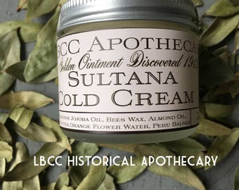 1912 Sultana Cold Cream -Hand Cream - Great For Sensitive Skin -  Natural Body Cream - Titanic Hand Cream- Titanic Cold Cream  Body Butter