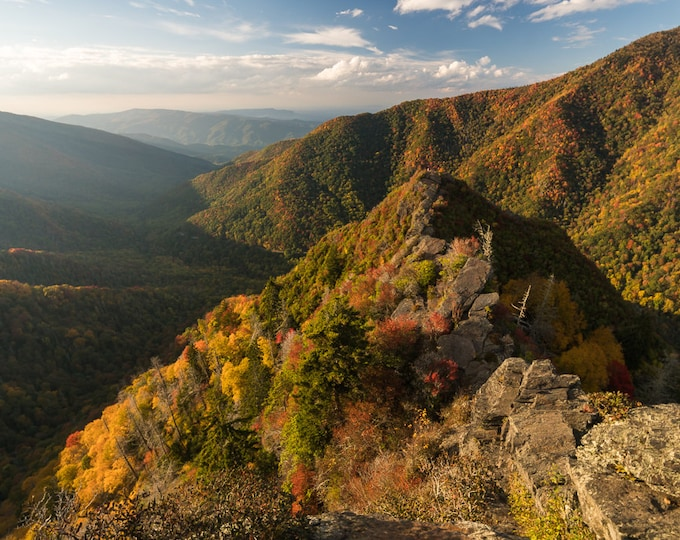 October Evening at Chimney Tops