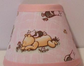 Classic Winnie the Pooh Pink Fabric Nursery Nightlight/Baby Gift/Winnie the Pooh Nursery