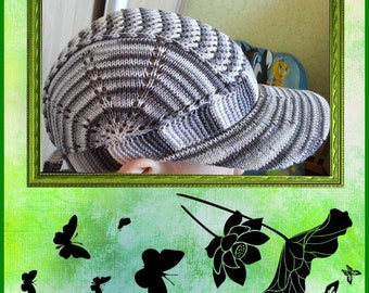 Model knitted cotton summer Hat pattern and international chart in photo (not d written explanation) pdf format