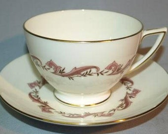 Minton Laurentian Pink Tea Cup and Saucer