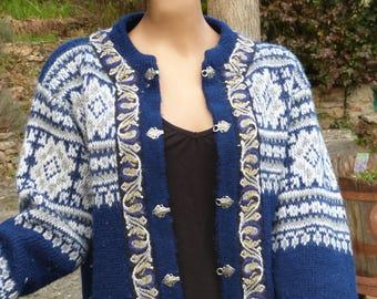 Vintage Virgin wool Nordstrikk Cardigan