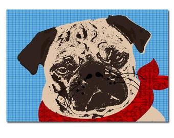 Pug Dog Art  - Fine art print, pug dog, dog lover, dog art, pet