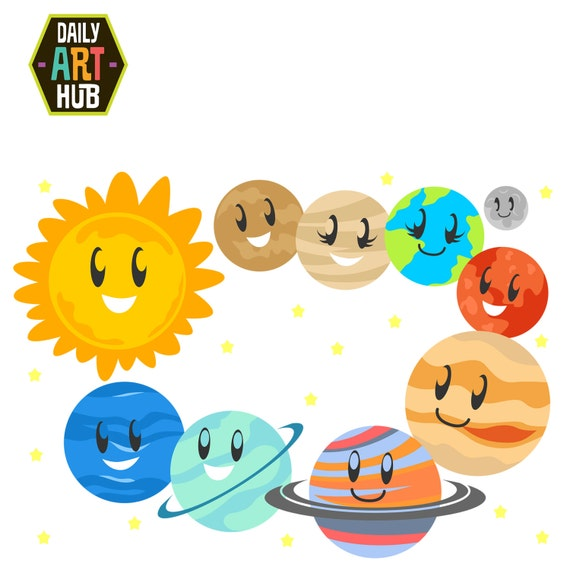 cute planets clip art solar system clip art outer space rh etsy com planet clipart for kids planets clipart black and white