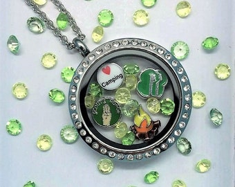 Girl Scout Leader Locket-Creatively Crafted Floating Lockets-The Copper Closet-FREE Domestic shipping!