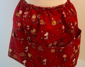 Peanuts themed apron