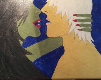 Original acrylic painting ** Vixen