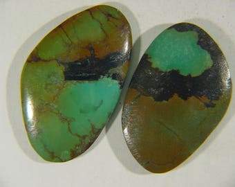 Genuine Natural Chinese Turquoise Lapidary Freeform Cabochon 9492C