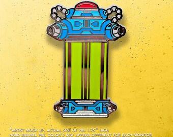 Mega Man X Capsule / Video Game Art / Video Game Pin / Mega Man / Lapel Pin / Hat Pin by Tom Ryan's Studio