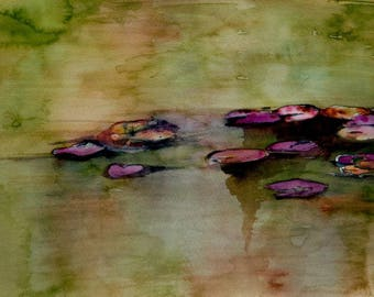 water lilies watercolors