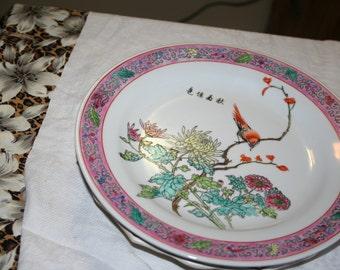 Pink Bird Plate