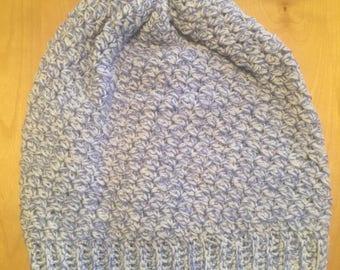 Slouchy hat/fall hat/blue hat/white hat/crochet bat