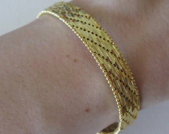 NEW Milor 18 K Gold over 925 sterling silver lady's bracelet, made in Italy