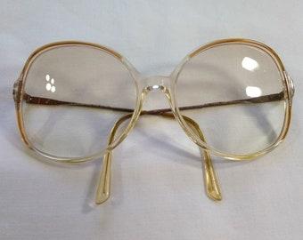 Vintage Oversized 1980s Plastic Womens Eyeglasses Frames, Starline Collection, Lino Veneziana