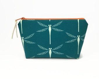 Makeup zipper pouch, Dragonflies, Makeup storage, Make up bag, Small cosmetic case, Makeup bag, Cosmetic bag, Dragonfly, Makeup storage